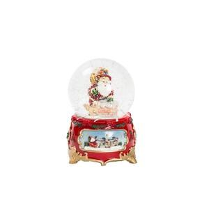 palla di vetro natalizia neve e musica babbo natale