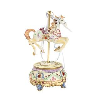 carillon giostra girevole con cavallo