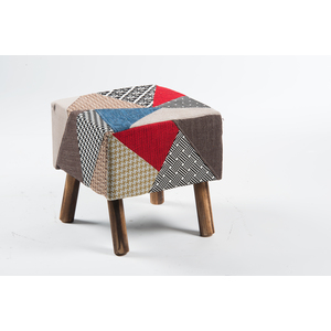Pouf in tessuto patchwork