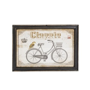 quadro decorativo shabby chic classic bike