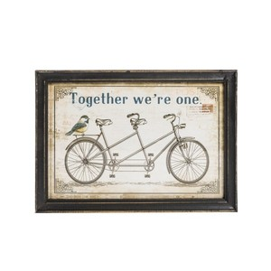 quadro decorativo shabby chic tandem bike