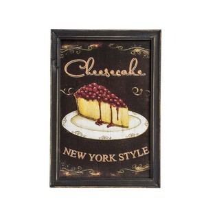 quadro decorativo shabby chic cheesecake