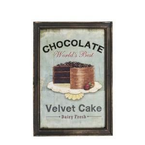 quadro decorativo shabby chic chocolate