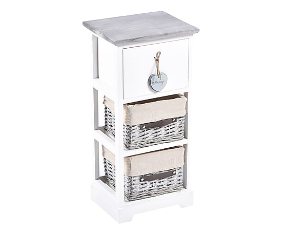 Cassettiera In Vimini Bianca.Cassettiera Shabby Chic Way Home Store