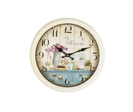 Orologio da parete decorativo stile shabby chic way home for Orologio shabby chic