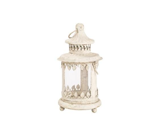 lanterna ferro bianco anticato