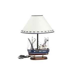 lampada con base barca