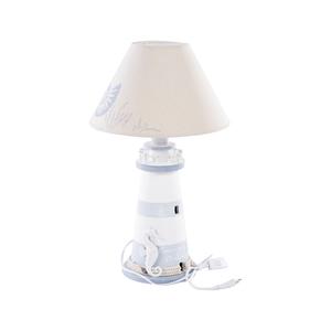 lampada da tavolo con faro e cavalluccio