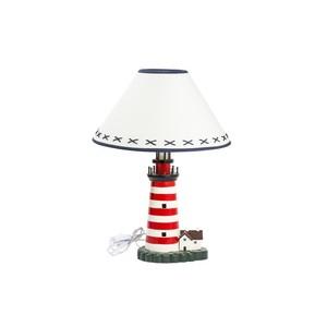 lampada stile marino bianca e rossa