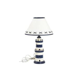 lampada da tavolo stile nautico bianco e blu
