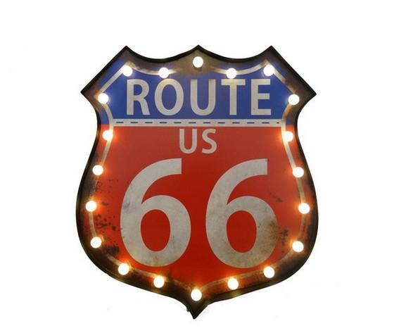 insegna luminosa route US 66