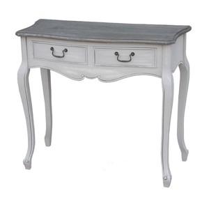 scrivania rettangolare legno bianca shabby chic