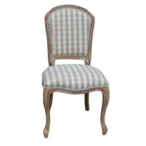 sedia legno e tessuto a quadretti