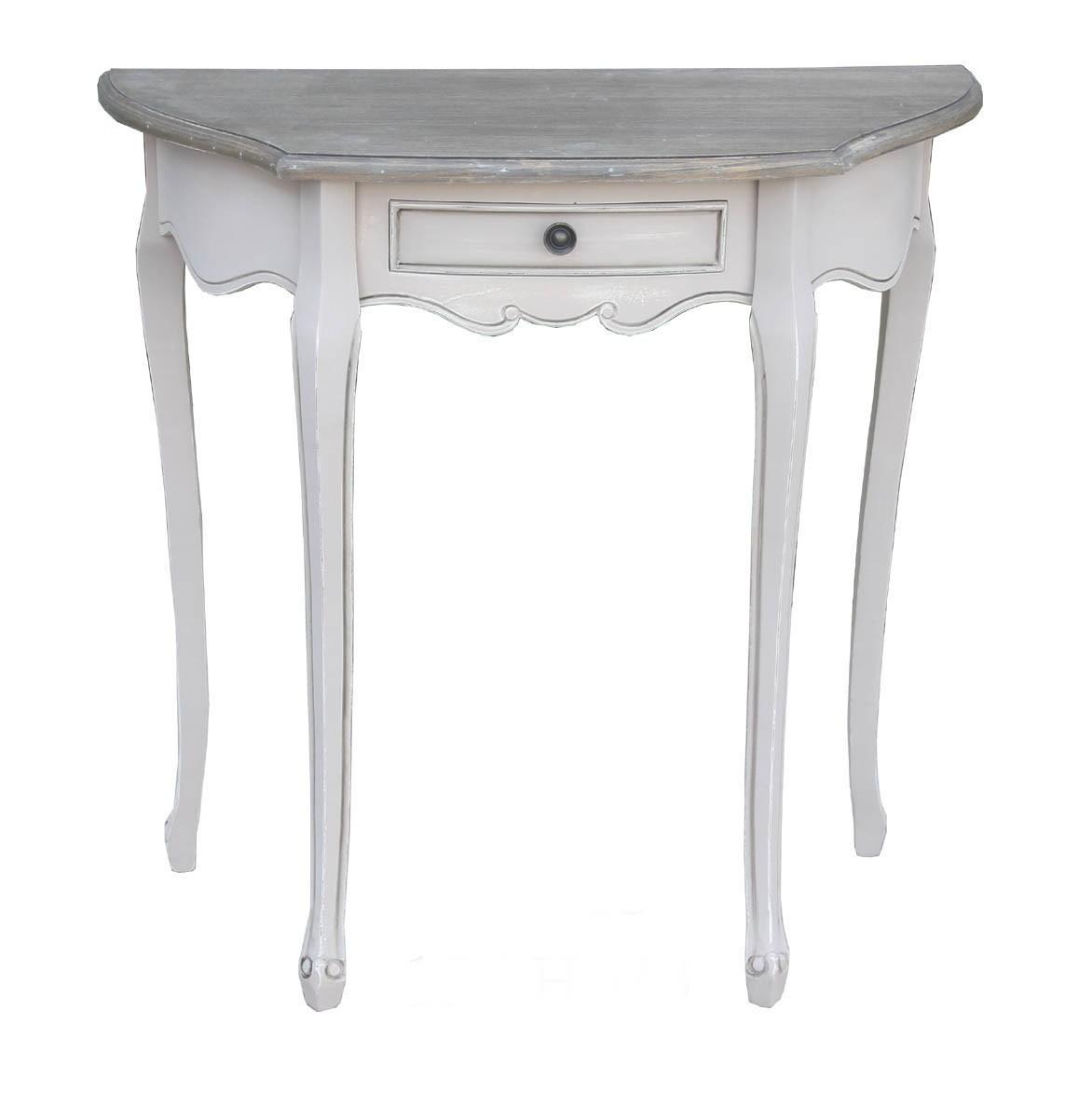Tavolino mezzaluna Shabby Chic - WAY HOME STORE