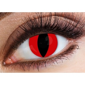 LENTI A CONTATTO HALLOWEEN (1 LENTE) - ROSSA cat eyes