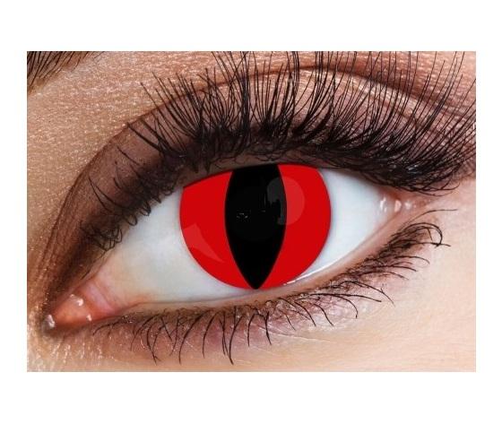 LENTI A CONTATTO HALLOWEEN (1 LENTE) - ROSSA cat eyes