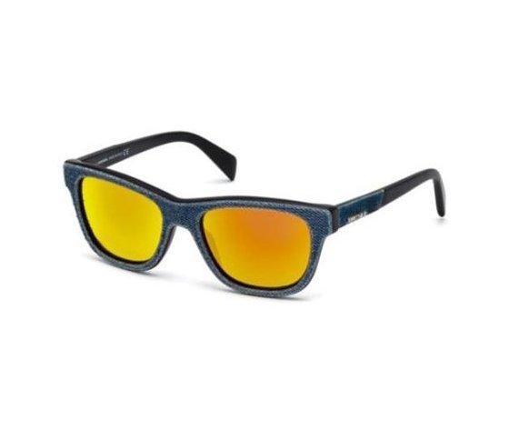 Occhiale da Sole Diesel dl0111-90u denim lente specchiata arancio