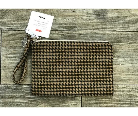 Pochette pied de poule - Hand made in Italy
