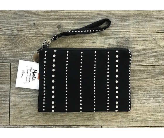 Pochette pois white in line - Hand made in Italy