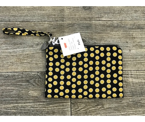 Pochette pois gialli - Hand made in Italy