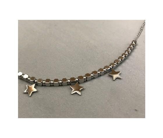 Collana girocollo silver con stelle
