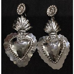 Orecchini cuori argento