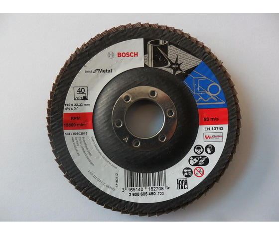 Disco lamellare 115x22 gr.40