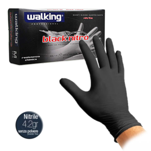 GUANTI WALKING BLACK NITRO   MISURA M