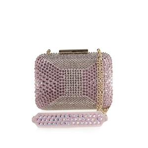 Clutch in raso con strass