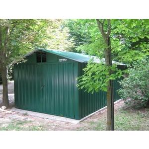 Box in lamiera color verde