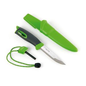 light my fire lmf fk bk coltello sportivo colore verde a lama fissa con alloggio per accendifuoco firesteel