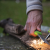 Light my fire lmf fk bk coltello sportivo colore arancio a lama fissa con alloggio per accendifuoco firesteel 5