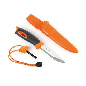 light my fire lmf fk bk coltello sportivo colore arancio a lama fissa con alloggio per accendifuoco firesteel