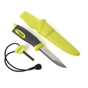 light my fire lmf fk bk coltello sportivo colore giallo a lama fissa con alloggio per accendifuoco firesteel