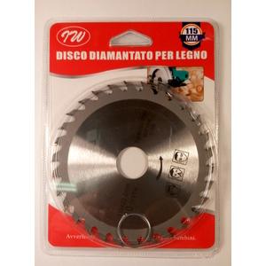 disco taglio legno per smerigliatrice d.115mm 30 denti al widia