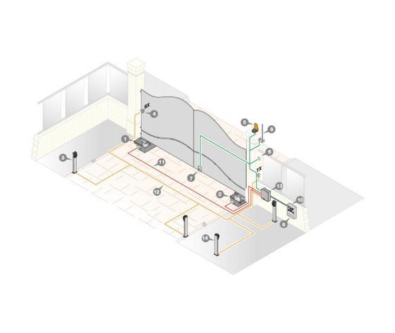 Kit automazione per cancello a battente 805/HL2524KX9
