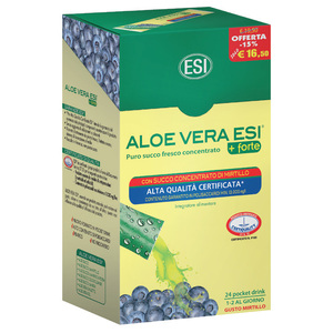 ALOE VERA SUCCO + FORTE con MIRTILLO POCKET DRINK®