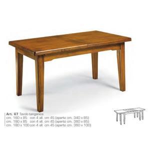 Tavolo 8 piedi 4 allunghe 180x85/360