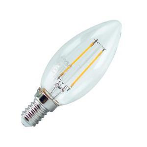 Lampada Led E14 2W trasparente a filamento Warm White /luce calda3500K