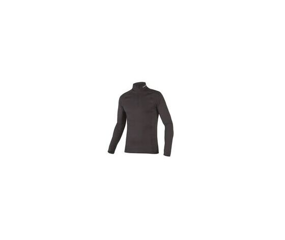 TRANSRIB HIGH NECK FRONT NERO