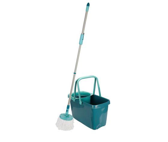 SET CLEAN TWIST MOP LAVAPAVIMENTI CENTRIFUGA + MANICO REGOLABILE + SECCHIO + MOCIO LEIFHEIT