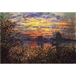 Thermoquadro CLAUDE MONET - TRAMONTO A LAVACOURT