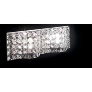 Ondaluce applique Vigo Clear con cristalli