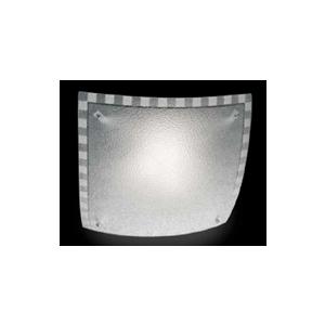 Ondaluce plafoniera CCR352 2 luci quadrata in vetro granigliato