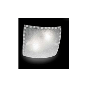 Ondaluce plafoniera CCR351 1 luce quadrata in vetro granigliato
