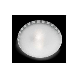 Ondaluce plafoniera CCR452  2 luci tonda  in vetro granigliato