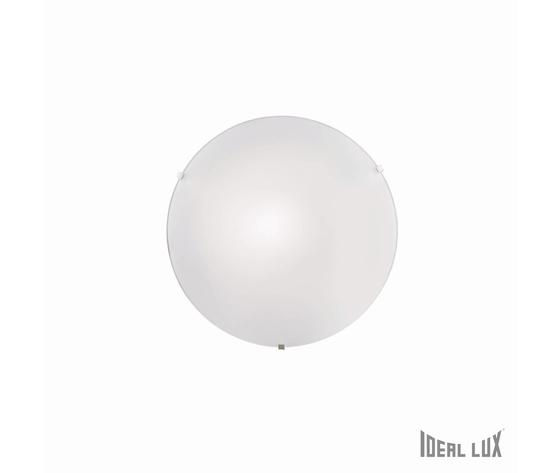 Ideal Lux plafoniera Simply vetro trasp. Sabbiatoganci metallo