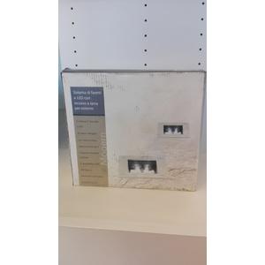 kit da 2 faretti quadrati incasso da esterno a LED