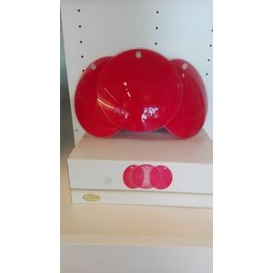 Applique vetro rosso 33cm