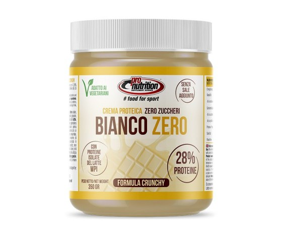 PRO NUTRITION CREMA PROTEICA BIANCO ZERO 350 GR ZERO ZUCCHERI